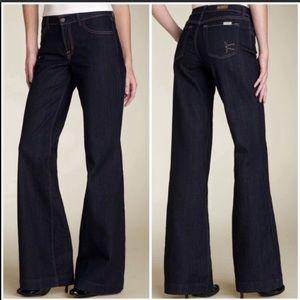 David Kahn wide leg high rise jeans